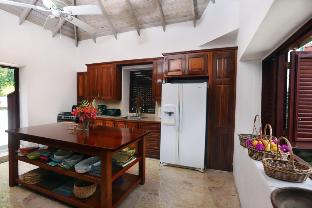 Kitchen in main cottage