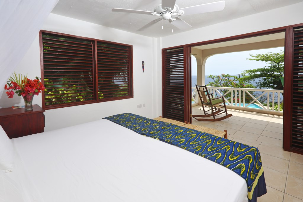 Fourth bedroom with views