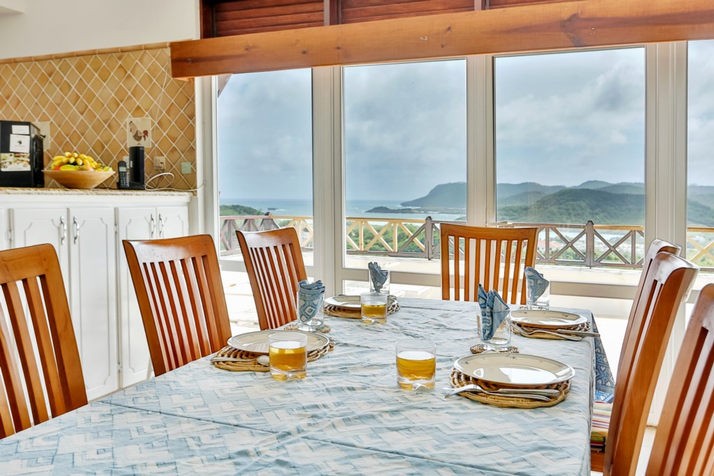 Formal dining with a view.