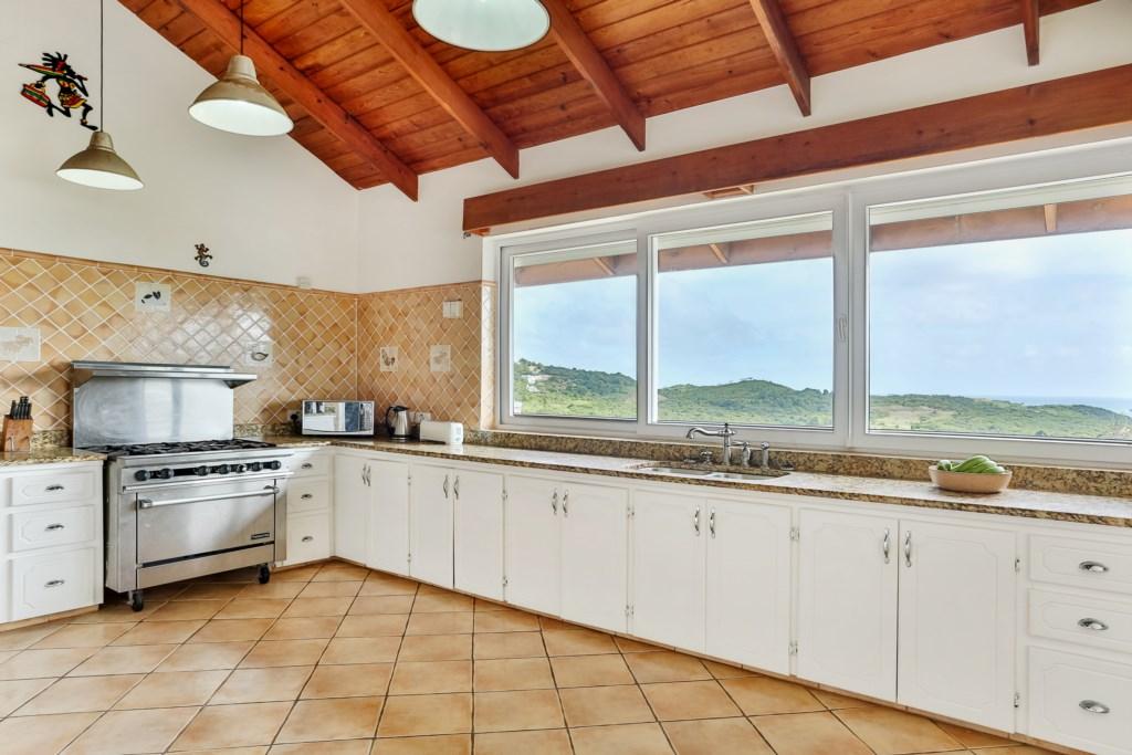 Views in the kitchen.