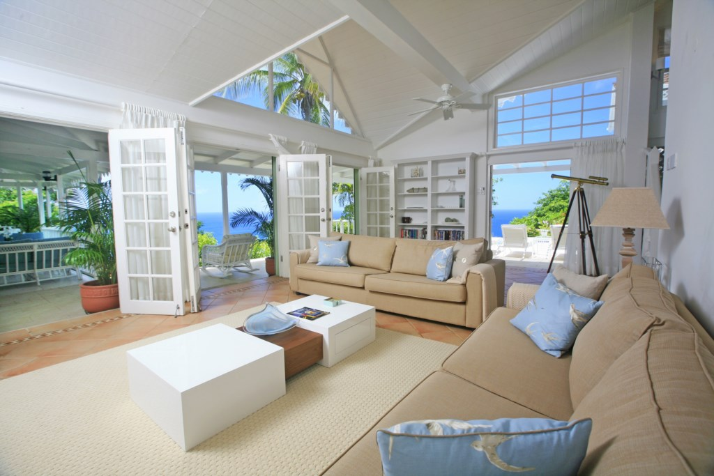 Large and airy living space.
