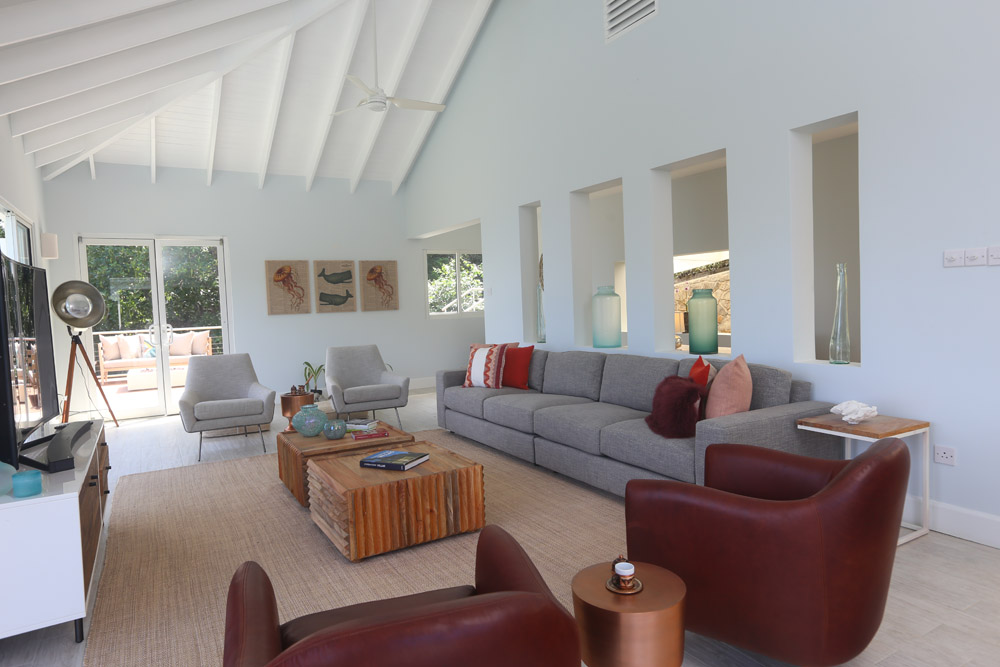 Living space with ample seating, top of the line equipment & access to the outside spaces.