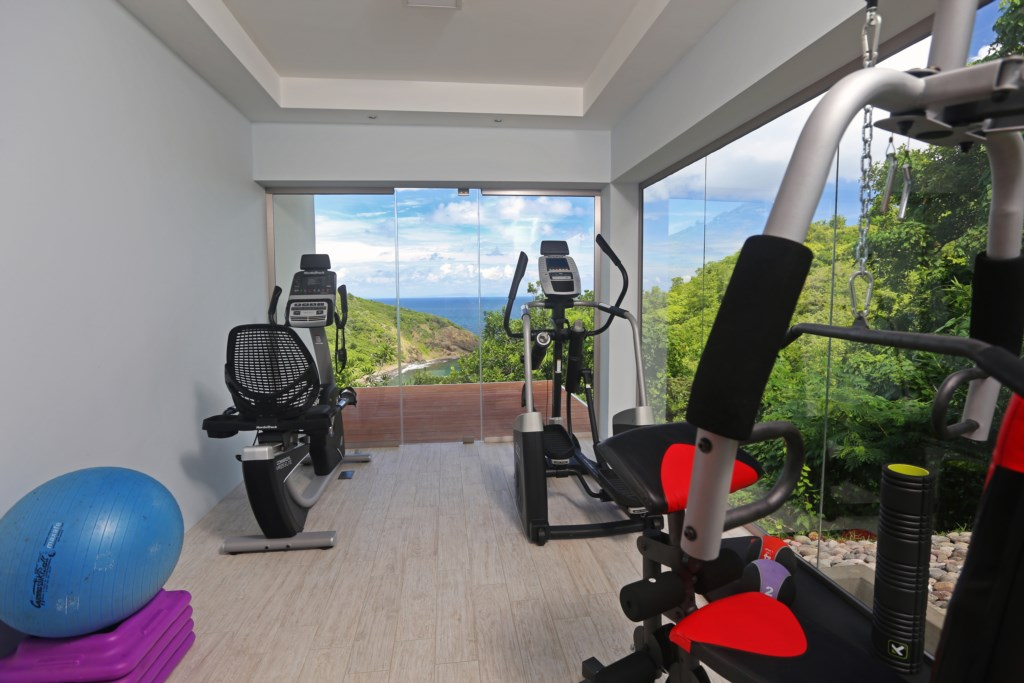 Gym located after the master bedroom with Yoga deck.