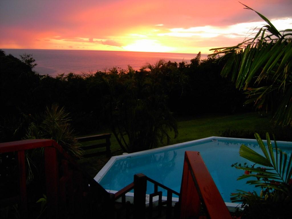 Pool shot at sunset