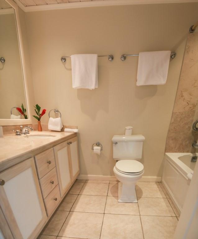 Bedroom 2 Ensuite bathroom with tub.