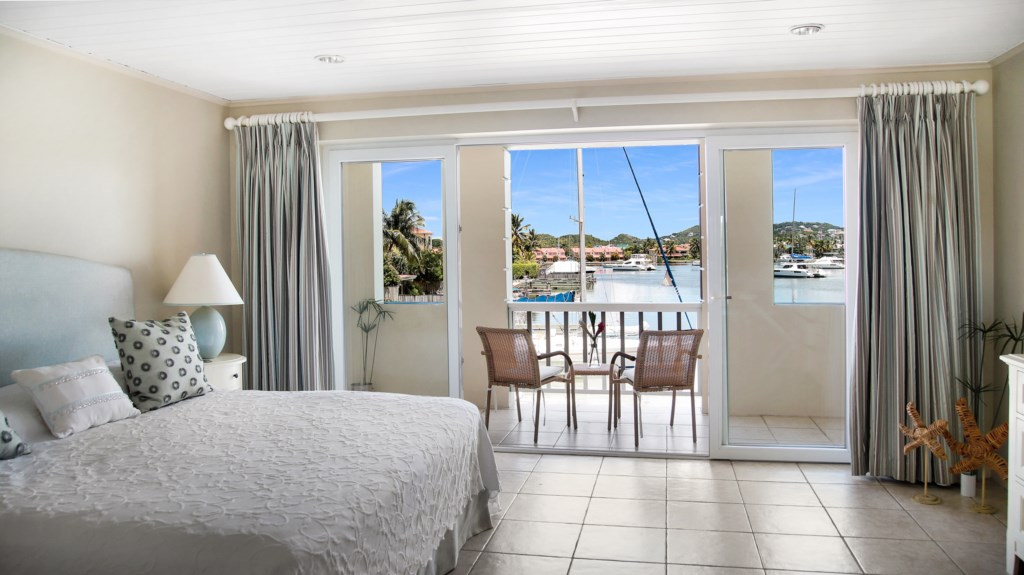 Bedroom two with water views.