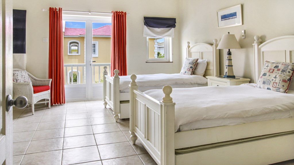 Bedroom three with twin beds.
