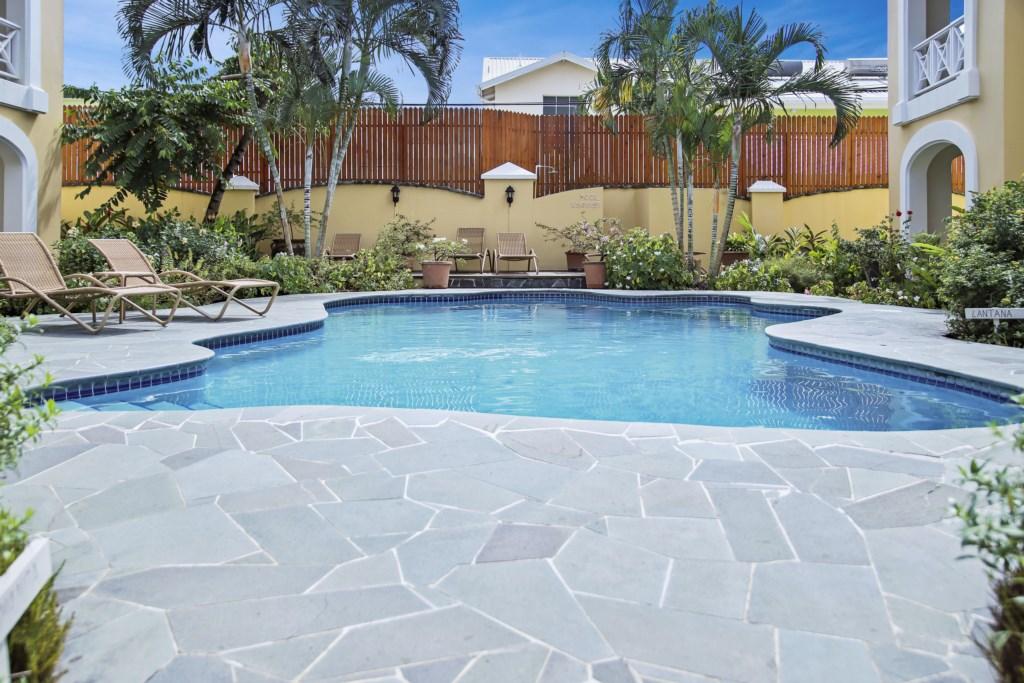 Large communal pool.
