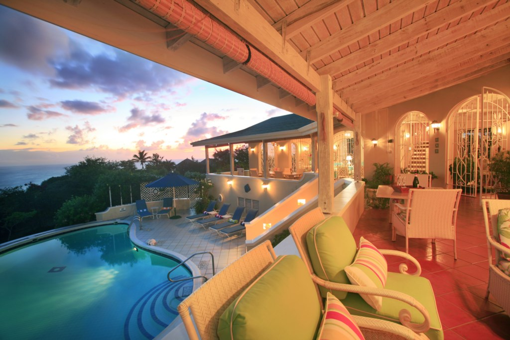 Villa evening views.