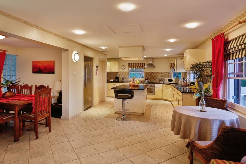 Enter into the large kitchen from the living/dining
