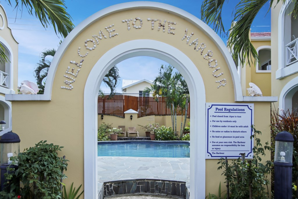 Entrance to the shared pool.