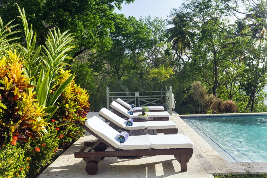 Villa is surround by lush lands, makes for a very private getaway.