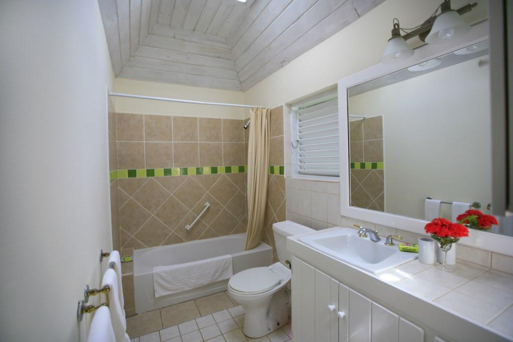 Bedroom one's ensuite bathroom.