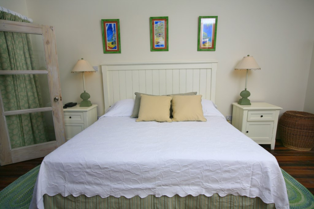 Bedroom one with King bed