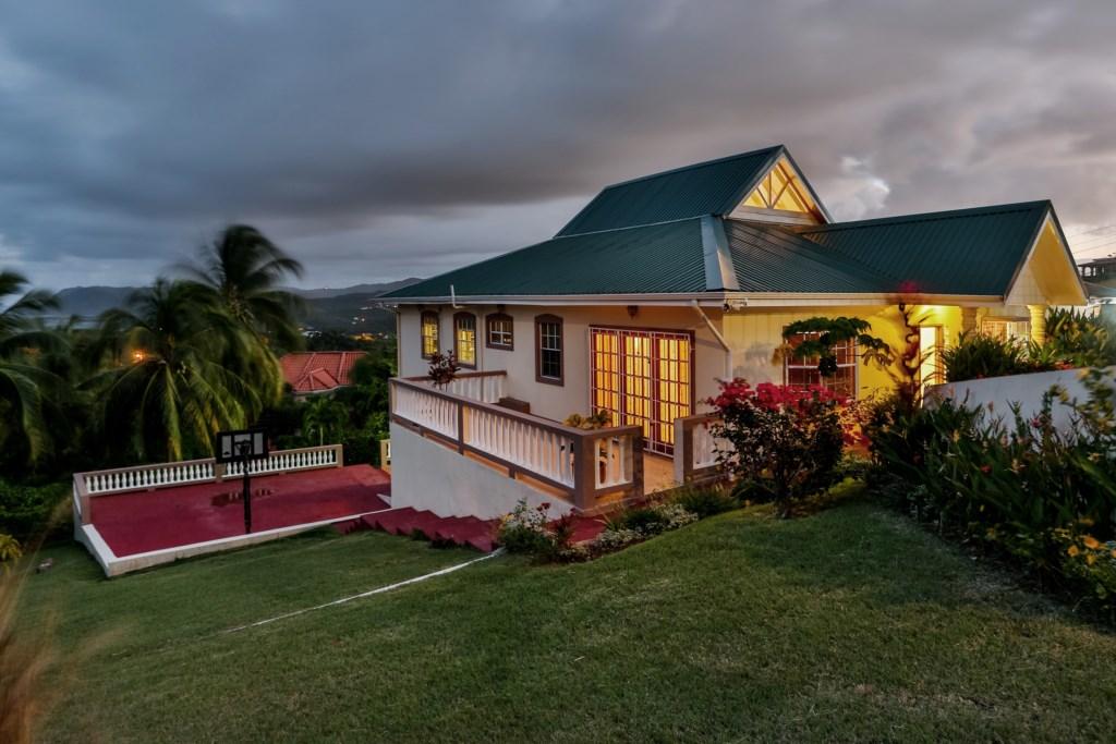 Exterior of villa.