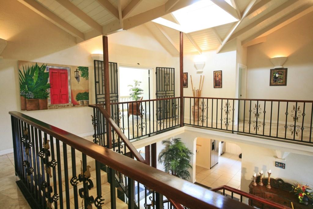 Internal upstairs balconies to bedrooms