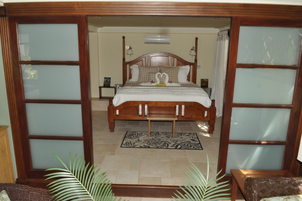Raised bedroom in Cherry apartment