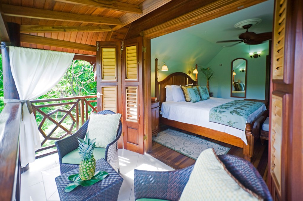 Balcony off cottage bedroom