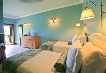 Flamboyant Room located in the main house, has an ensuite bathroom