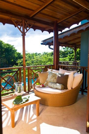 Golden Apple's private  balcony