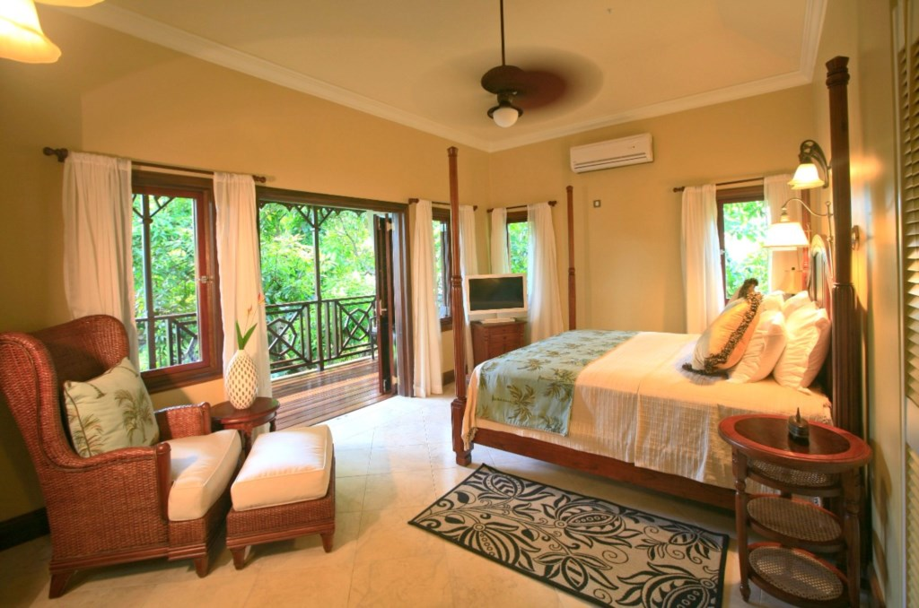 Julie Mango Room located in the main villa with ensuite bath