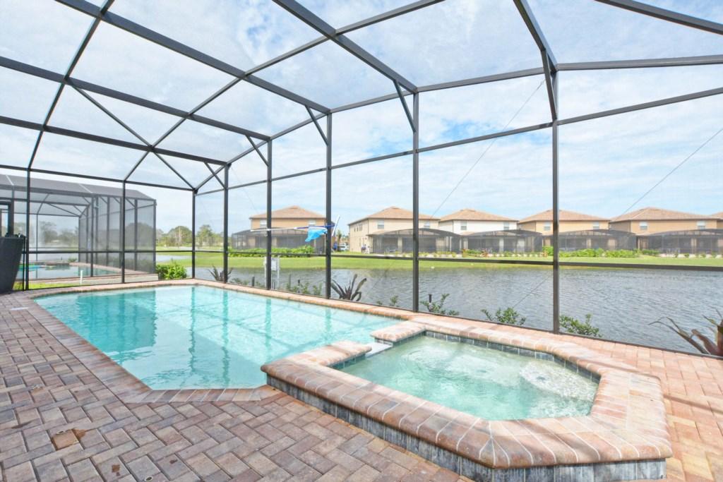 Private Screened Pool & Spa