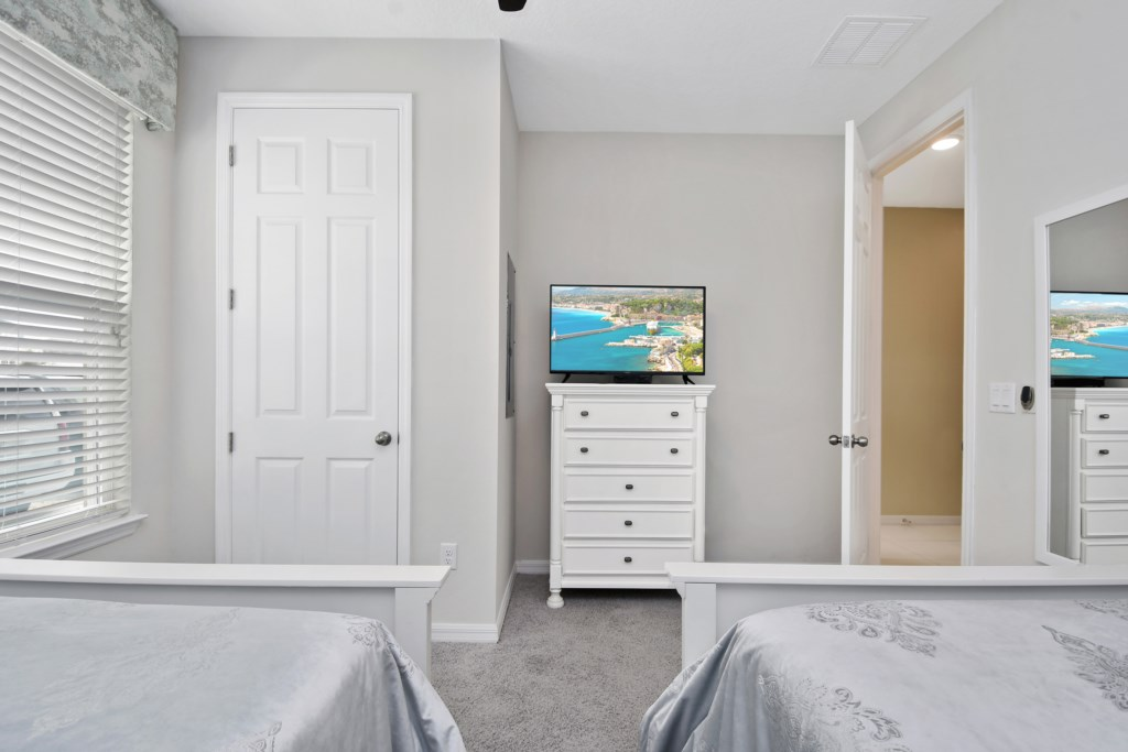 1st Floor Bedroom with flat screen tv