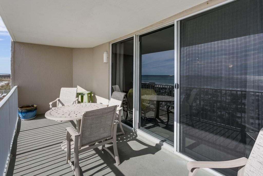Balcony off living room
