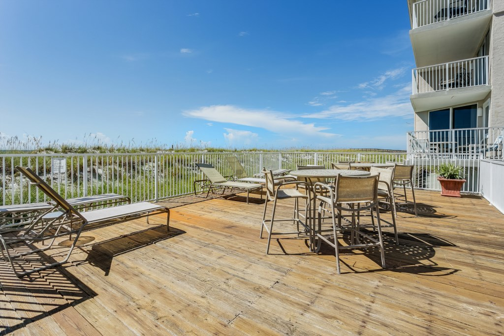 Sunning deck located by community pool