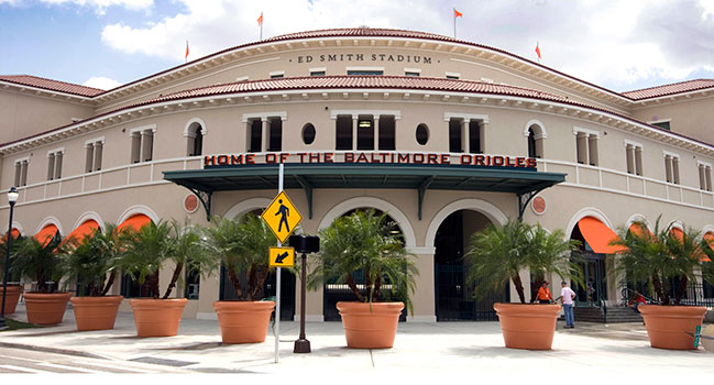 Ed Smith Stadium, Spring Training home of the Orioles