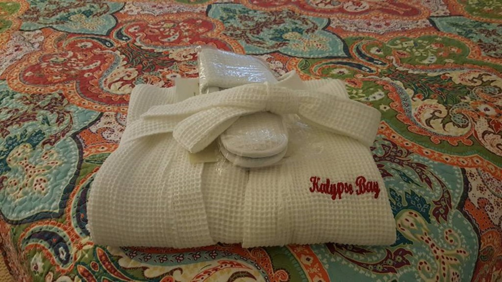 Spa Robe and Slippers for your use during your stay provided by Kalypso Bay