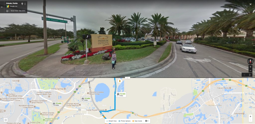 Distance To Orlando Outlets