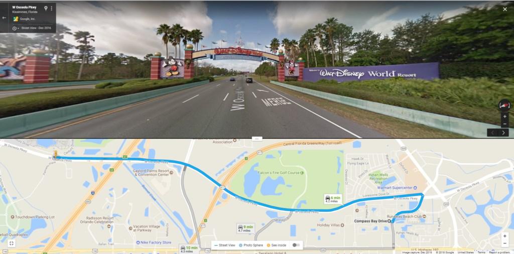 Distance to Disney World