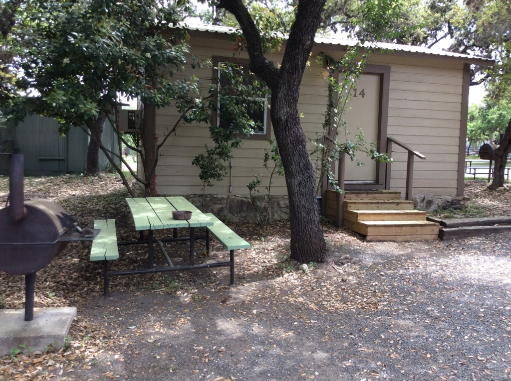Picnic Table and Private Wood BBQ