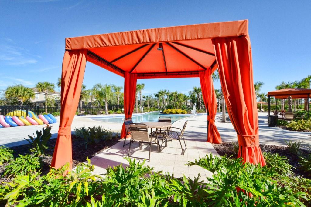 Resort Pool Cabanas