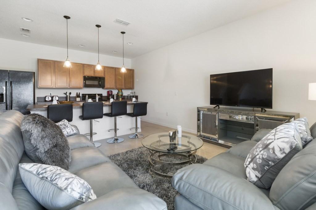Living room  - kichen view
