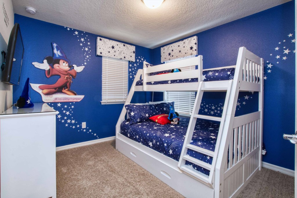 Mickey Themed Room w/ Bunk Bed(Twin/Full)