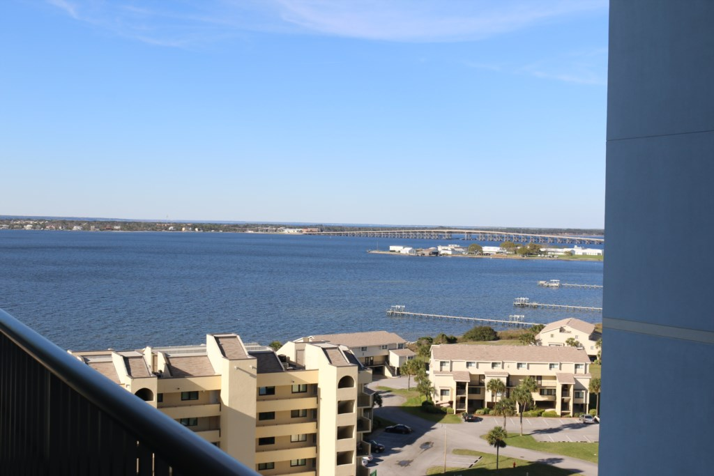 Private balcony View of the Pensacola Bay