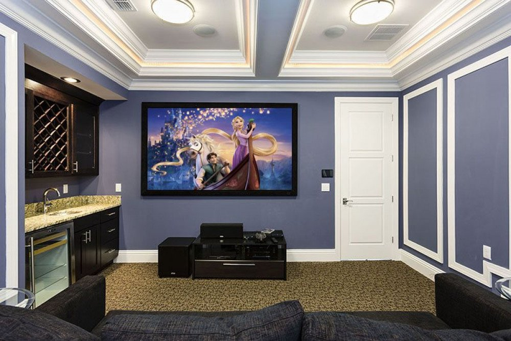 Amazing movie theater room