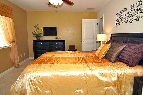 Wonderful queen size bedroom with flat screen TV