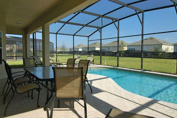 View 2 of luxurious pool and spa with loungers