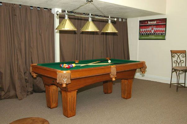 Awesome game room with pool table