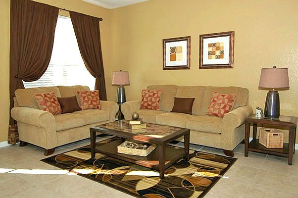 Beautiful living room sofa with flat screen TV