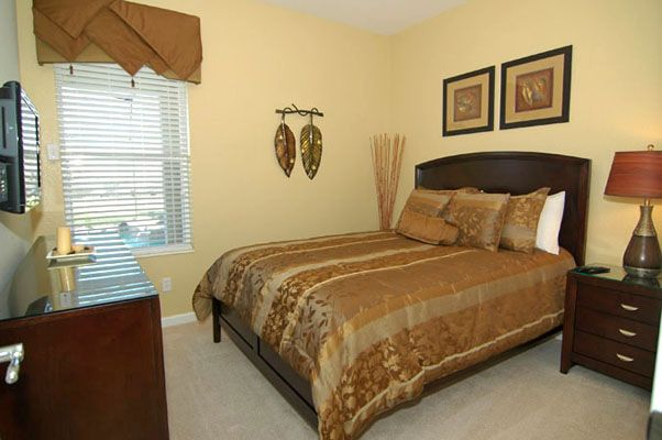 Relaxing queen size bed with flat screen TV