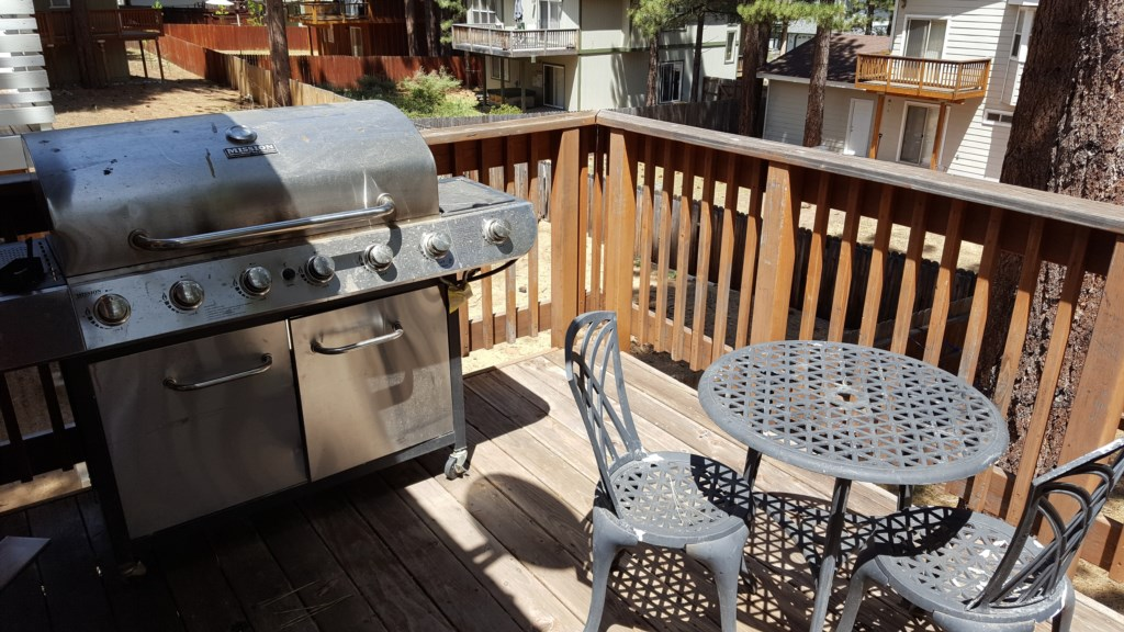 Outdoor Grill and Patio Area for an Evening Cookout