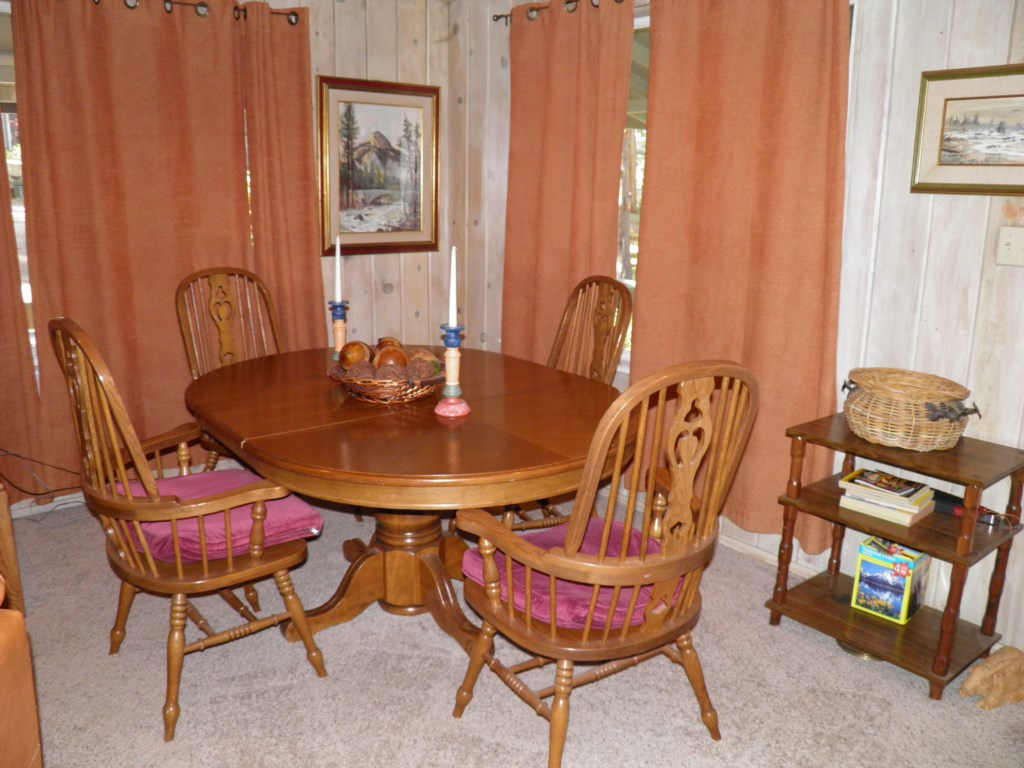 Dining Area with Classic Wood Furniture
