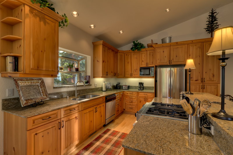 Wooden Cabinets and Modern Appliances