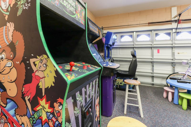 Game room with multiple arcade games