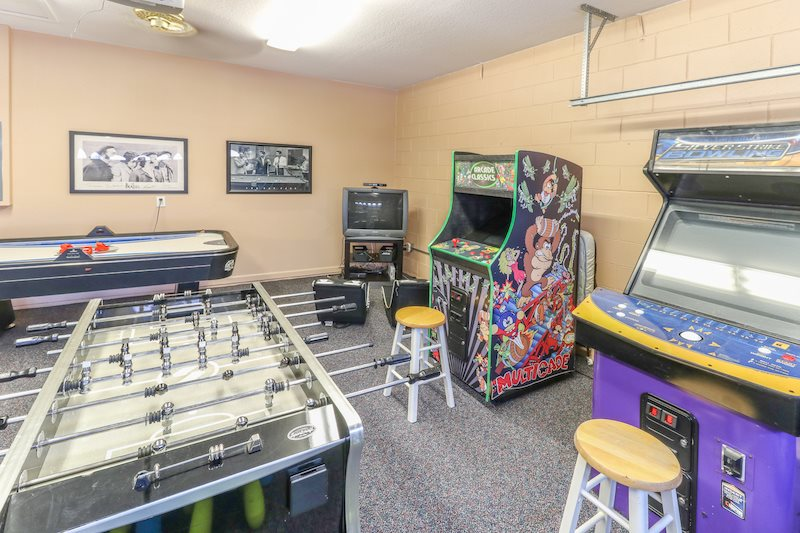 60-in-1 multi-arcase machine, foosball and Xbox game system