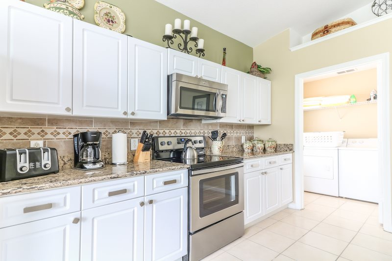 All major stainless steel appliances and granite countertops